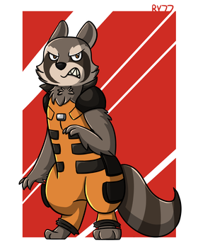 Rocket Raccoon by redyoshi77