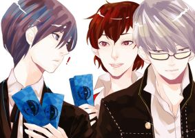 persona3 and 4 : Protagonists by MissIfa