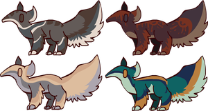 Anteater designs by SilverGully