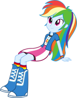 Rainbow Dash Sitting by Zacatron94