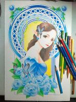 MY BLUE FAIRY by totmoartsstudio2