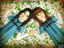 Suzuki and Tanaka in old days by TheSims3KawaiiMaker
