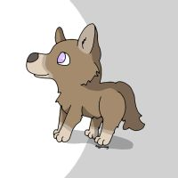 Purple Eyed Pup by evilyowling