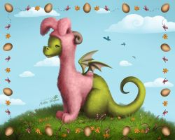Easter Dragon by WYNIX