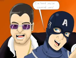 Frank West Meets Captain America by Sonikku001