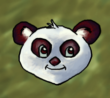 Panda Headshot by pookstar