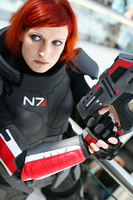 Cmdr. Valkyria Shepard on Duty V by LadyTenebraeTabris