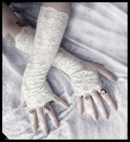 Fionn Lace Arm Warmers by ZenAndCoffee