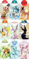 The Eevees by NoneNess