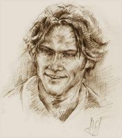 Jared Padalecki as Sam Winchester by Ginger-snuffkin