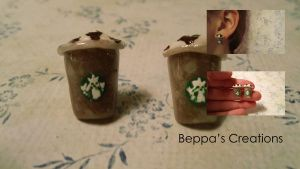 Frappuccino Stud Earrings by BeppasCreations