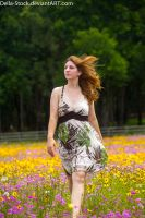 Walking Through Wildflowers.2 by Della-Stock