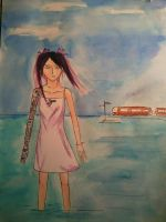 Girl on the sea by leaazian