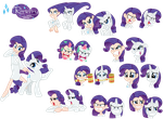 Rarity - Pony/ Human by Trinityinyang