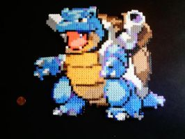 Blastoise Fuse beads by roccomation