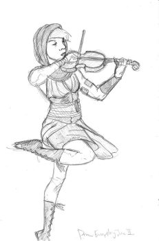 Draw Everything June II- PA Fiddler by SamwiseTheAwesome