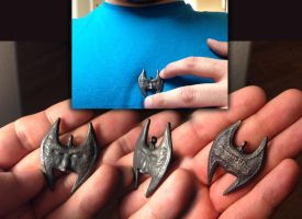 Mask of Shadows Pendant -Stainless Steel 3D print- by KevinLongtime