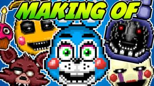 MAKING OF - Five Nights At Freddy's 2 - Pixel Icon by GEEKsomniac