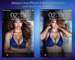 Adriana Lima iPhone Walls. by Ex3cut3r