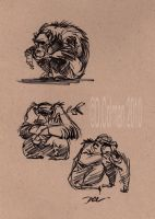 Chimp sketches by davidsdoodles