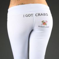 Yoga Pants - I Got Crabs by Nayias01