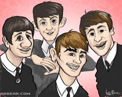 Old School Beatles by skortbulb