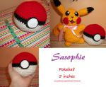 Pokeball amigurumi by Sasophie