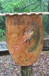 Dragon fire Celtic leather banner by naked2hobby