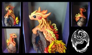 Fire Dragon on Rock by SonsationalCreations