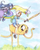 adventure time color by LalaSaurio
