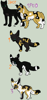 JaceXSpud-Adoptables litter by TheSheeranKennel