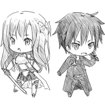 Sword Art Online (Chibi) by pandacutee103