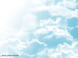 A blue sky with clouds by Dragon-artist-life