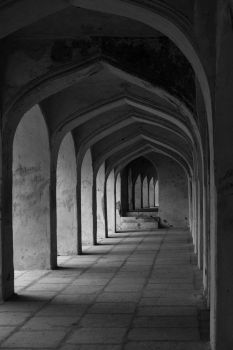 The Sultan's Hallway: B and W by EmilyNorthey