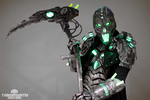 The Electromancer Full light up cyberpunk costume. by TwoHornsUnited