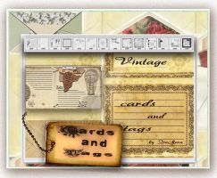 Vintage Cards and Tags by Diamara