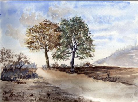 watercolor lanscape 2 by Just-a-Witness