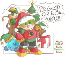 Merry Christmas de puku by SLiDER-chan