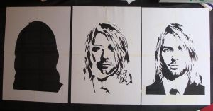 Kurt Cobain - Cut Stencil by RAMART79