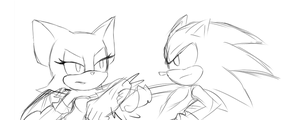 Rouge VS Sonic by Dream-Beam