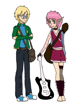 Seasons of Future- Jeremie and Aelita Color by LynaKiovote
