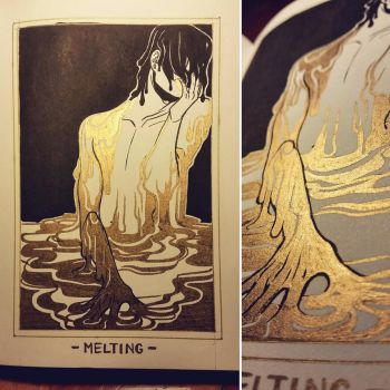 Ink/GrossTober 15: Melting by Rejuch