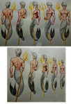 male mermaid turnaround by IAJusty