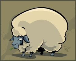 sheep by robiant