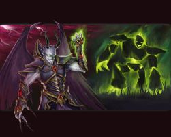 Warcraft III - Dreadlord by radiationboyy