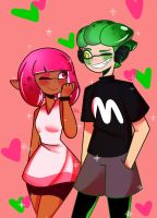 Splatoon shipping fanart by Strawberry-Milku