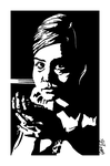 Clara - 'Dark Bits' (v1) - (black and white scan) by bromley001
