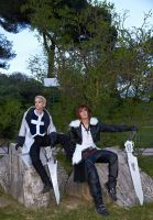 Seifer and Squall: Waiting by DocSkavenger