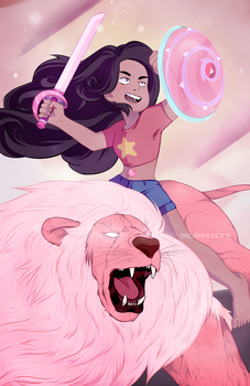 Stevonnie Fight by m-c-mystery