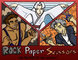 Rock Paper Scissors:  The Battle of the Century! by Kasandra-Callalily